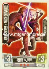 Asajj Ventress vs Anakin Skywalker #172 Force Attax 2
