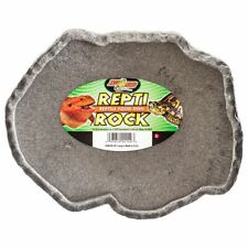 """New listing Zoo Med Repti Rock - Reptile Food Dish Large (9.75"""" Long x 8.5"""" Wide) Fd-40"""