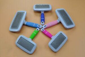 Dog Puppy Cat Pet Hair Knot Detangling Brush Shedding Grooming Comb Slicker Rake