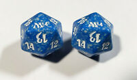 2x M14 Blue Spindown Die - MTG Magic Spindown D20 2014 - Free Shipping!