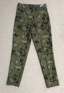 Marks & Spencers Floral TROUSERS size 8 SLIM LEG ANKLE grazer BNWT