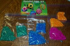 BEADED EGG CRAFT KIT  MAKE DOZENS OF DYED AND BEADED MOSAIC EGGS USE REAL/PLASTI
