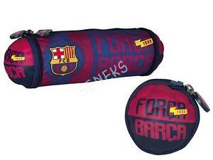 FC BARCELONA PENCIL-CASE foldable - BALL - POUCH pencil case Barca FCB FAN NEW