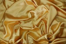 CHARMEUSE LIGHT SATIN POLYESTER FABRIC 60 SEWING GOLD SOLID SILKY 75 YARDS
