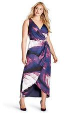 NEW LANE BRYANT $268 PLUS SIZE PRINTED WRAP MAXI DRESS BY MYNT 1792 SZ 18