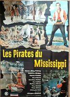 Cartel Cine Western Les Pirates Del Mississippi - 120 X 160CM