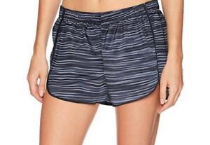 NEW HANES SPORT Women 2X~BLACK Lined QUICK DRY Shorts w/inside pocket