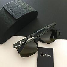 New Prada Men's Sunglasses Matte Black Rimless 1BO-0A7 SPR50R 62mm Italy Made