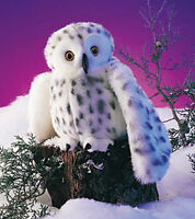 Snowy Owl Furry Folk Hand Puppet Folkmanis White -Head Spins FREE SHIPPING