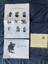 Hatbox Ghost Big Fig Disneyland Haunted Mansion Certificate & Directions