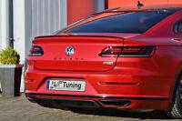 Heck Diffusor Heckansatz Heckschürzenansatz aus ABS für VW Arteon R-Line mit ABE