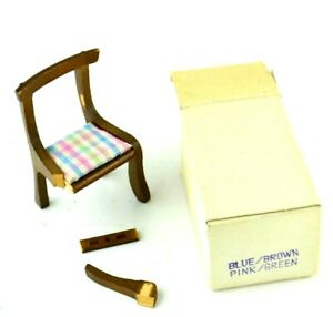 "Wooden Doll House Miniature Furniture Wood Vtg Dollhouse Small Chair 3"" Tall"