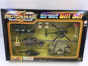 Motormax Great Gift Set Die -Cast Metal  NO#64003 Military