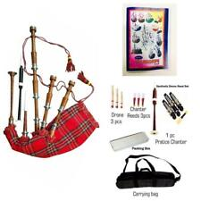 More details for scottish royal stewart plain bagpipes silver amounts/rosewood brown bagpipe