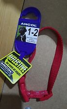 NEW DOGS COLLAR ANCOL  REFLECTIVE RED 20-30cm SIZE1-2