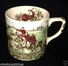 JOHNSON BROTHERS ENGLAND TALLY HO DEMITASSE CUP 4 OZ HUNTING SCENE HORSES RIDERS