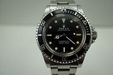 ROLEX 5513 SUBMARINER STAINLESS STEEL NICE PATINA w/OYSTER BRACELET DATES 1986