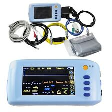 Clinic Medical LCD 5-Parameter Vital Signs Patient Monitor ECG NIBP Spo2 PR TEMP
