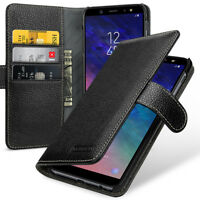 for Samsung Galaxy A6+ A6 Plus (2018) Leather Flip Case Card Slot Cover(9 Color)