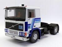 KK Scale Road Kings 1/18 RK180033 - 1977 Volvo F12 Tractor Truck - Blue/White