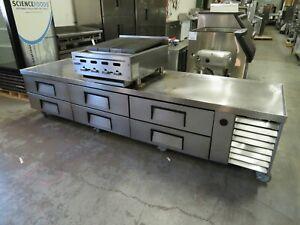 "True TRCB-110 6 Drawer Refrigerated Chef Base, 110""W"