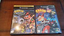 Crash Bandicoot: Wrath Cortex & Tag Team(Nintendo GameCube) Complete W/Manual