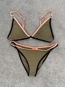 River Island Khaki Bikini Size 10 & Size 12