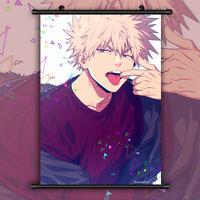 My Boku no Hero Academia Bakugou Katsuki Anime Wall Poster Scroll Room Decor