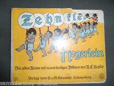 318 Kepler Zehn kleine Negerlein die alten Reime mit lustigen Bildern Hausser