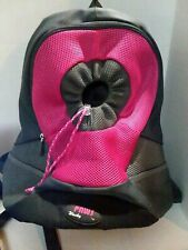 WACKY PAWS Pet Carrier Black & Gray & Pink Backpack
