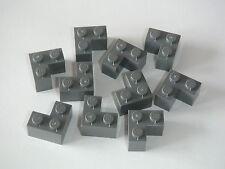 Lego 10 Briques d'angle gris foncé 2x2 neuves / New Corner bricks REF 2357
