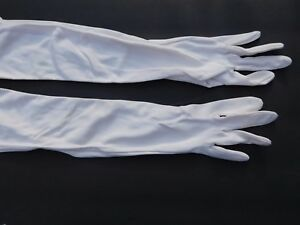 *STRETCHIES LADIES CREAM 100% NYLON DRESS GLOVES UNLINED SIZE ONE SIZE