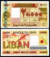 LEBANON 20000 LIVRES 2004 P 87 UNC