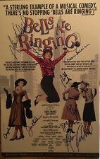 Faith Prince + Cast Signed BELLS ARE RINGING Broadway Poster Windowcard