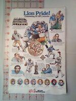 1983 DETROIT LIONS Lion Pride! Celebrating 50 NFL Seasons Elias Bros Big Boy