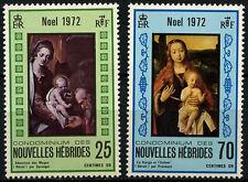 New Hebrides French 1972 SG#F185-6 Christmas MNH Set #D31620
