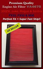 AF4675 FX35 FX50 / 300ZX Juke Rouge Sentra Rogue Select Air Filter Fast Ship
