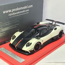 1/18 Peako Pagani Zonda Cinque Pearl White 2011 Ltd 20 pcs with display case