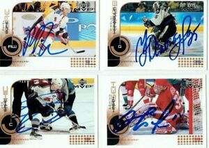 """PAVEL BURE autographed SIGNED '02/03 NY NEW YORK RANGERS """"Upper Deck MVP"""" card"""