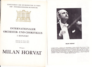 Milan HORVAT and artists signed program Vienna 1971