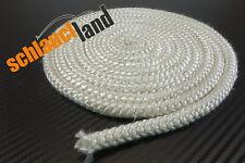 1m Fiberglas Schnur 10mm weiss 550°C *** Hitzeschutzband Ofen Dichtschnur Seil