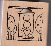 """go, girl! unbranded Wood Mounted Rubber Stamp 1 1/2 x 1 1/2""""  Free Shipping"""