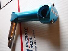 "RINGLE Zooka vintage stem -- 1"" headset -- NOS -- Turquoise -- mountain bike"