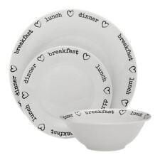 Charm 12pc  Dinner Set, Porcelain, White