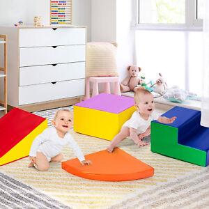 4 TLG. Schaumstoffbausteine Riesenbausteine Softbausteine Bauklötze für Kinder