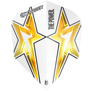 Target Phil Taylor Power 9FIVE Star G3 No6 Shape White Dart Flights