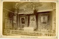 France, Versailles Le château Chambre à coucher de Louis XIV Vintage albumen T