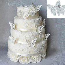 2pcs Butterfly Flower Lace Cake Fondant Sugar Craft Cookie Plunger Cutter Mold