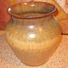 Vintage Large Stoneware Vase Late century 7-3/4 in high