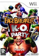 Facebreaker K.o. Party Nintendo Wii 12 Fighting Boxing Game